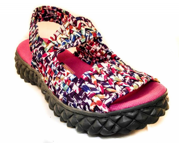 Adesso all elastic upper fun multi coloured summer sandal